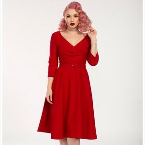 New Red Pinup Dress Size S